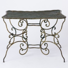 7-8145-Pinched-Top-French-Wrought-Iron-Table-10