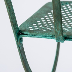 7-8146-Pair-of-Parisian-Wrought-Iron-Chairs-in-Green-Paint-13