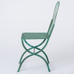 7-8146-Pair-of-Parisian-Wrought-Iron-Chairs-in-Green-Paint-16