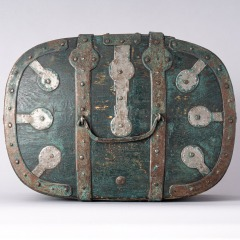 7-8157-Travel-Box-with-Old-Blue-Green-Paint-from-Northern-Sweden-C.-1800-13