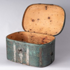 7-8157-Travel-Box-with-Old-Blue-Green-Paint-from-Northern-Sweden-C.-1800-19