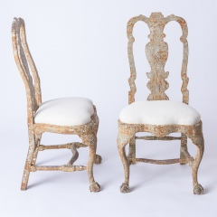 7-8170-A-Pair-of-Swedish-Rococo-Period-Chairs-with-Original-Paint-C.-1760-16