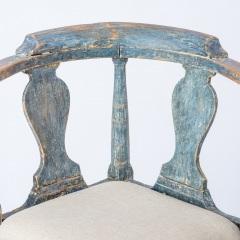 7-8171-Swedish-Rococo-Period-Hornstol-or-Corner-Chair-in-Original-Blue-Paint-C-1770-10