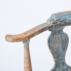 7-8171-Swedish-Rococo-Period-Hornstol-or-Corner-Chair-in-Original-Blue-Paint-C-1770-11