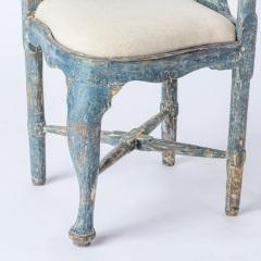7-8171-Swedish-Rococo-Period-Hornstol-or-Corner-Chair-in-Original-Blue-Paint-C-1770-12
