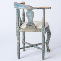 7-8171-Swedish-Rococo-Period-Hornstol-or-Corner-Chair-in-Original-Blue-Paint-C-1770-15