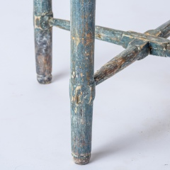 7-8171-Swedish-Rococo-Period-Hornstol-or-Corner-Chair-in-Original-Blue-Paint-C-1770-16