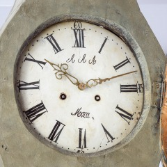 7-8174-Mora-Clock-signed-AAA-green-with-red-details-C-1780-11