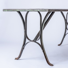 7-8182-An-Early-20th-Century-French-Iron-Industrial-7-8182-Table-with-Remnants-of-Original-Green-Paint-13