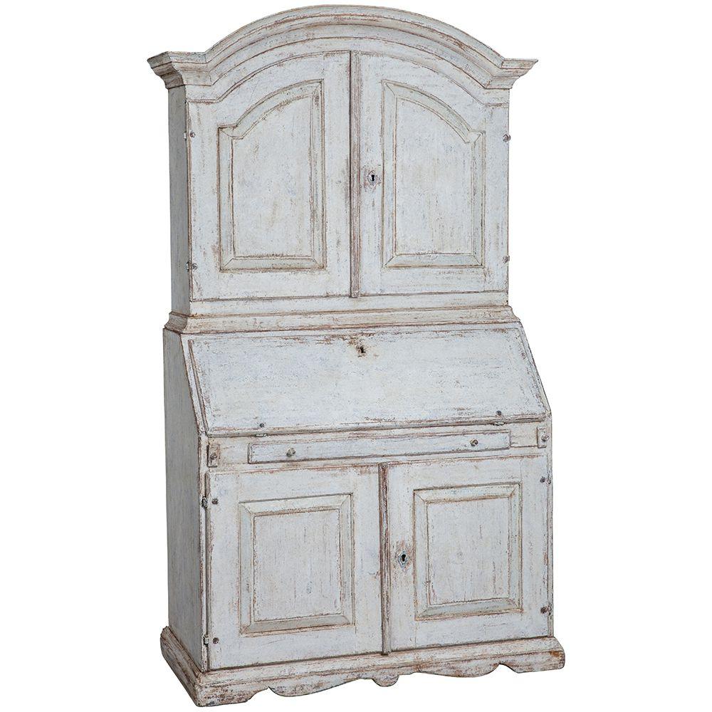 white secretary dawn hill swedish antiques