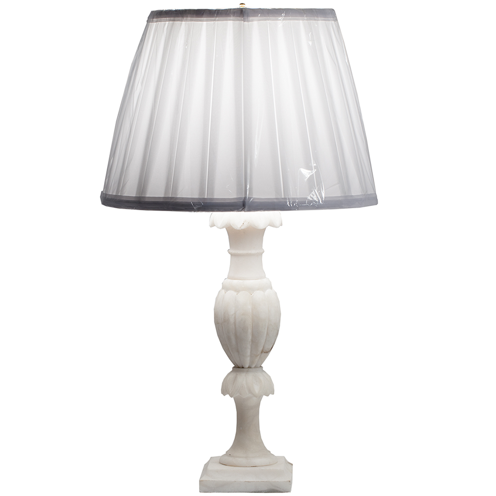 French alabaster lamp dawn hill swedish antiques