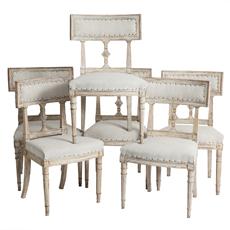 swedish antiques chairs gustavian six