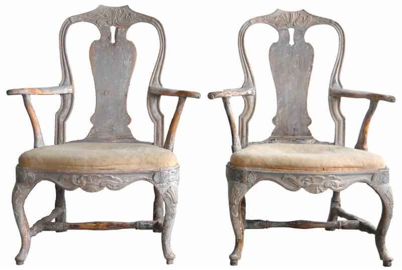 pair swedish armchairs Dawn Hill swedish antiques