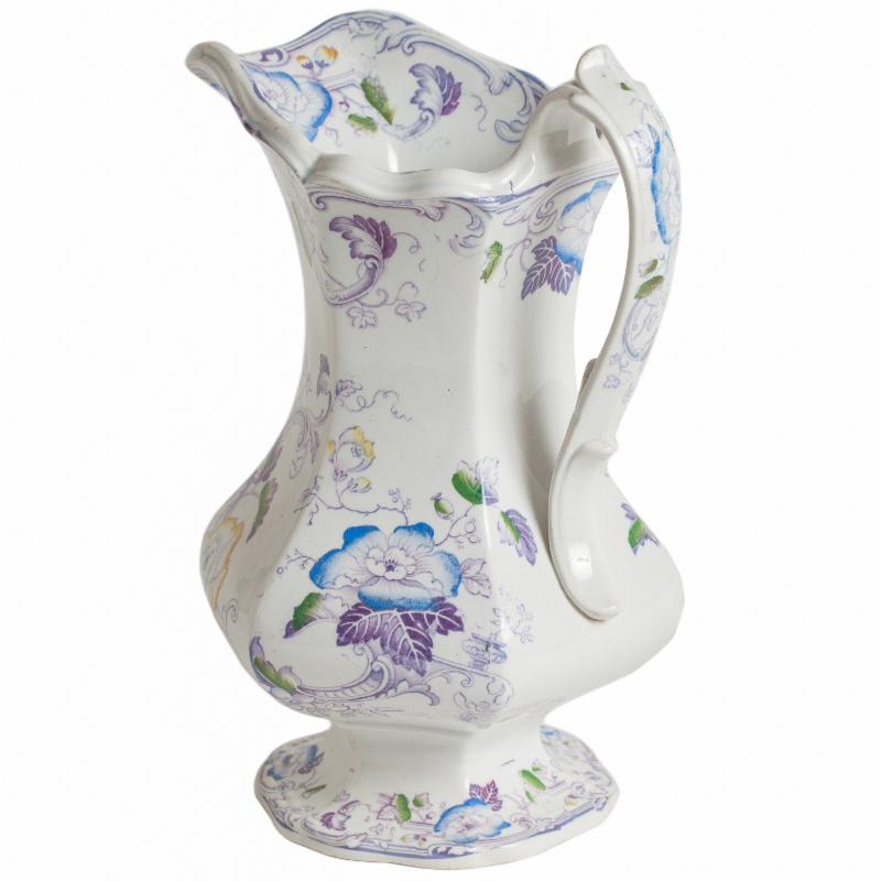 floral english antique pitcher