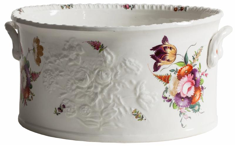 floral painted foot tub