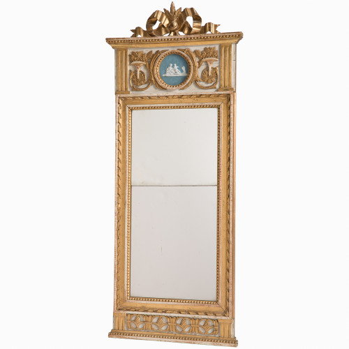 Swedish antiques gustavian period mirror with mother and child