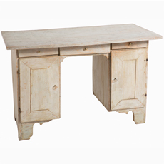 swedish antiques painted antique country desk skane kneehole