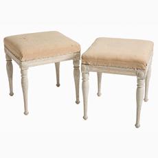 swedish antiques gustavian period stools original painted finish