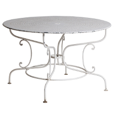Round French Garden Table with Pierced Top swedish antiques