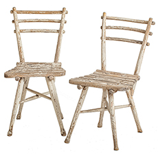 Pair of Antique Austrian Thonet Garden Chairs, circa 1904