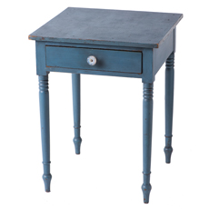 An American Blue Painted One Drawer Stand Circa 1820
