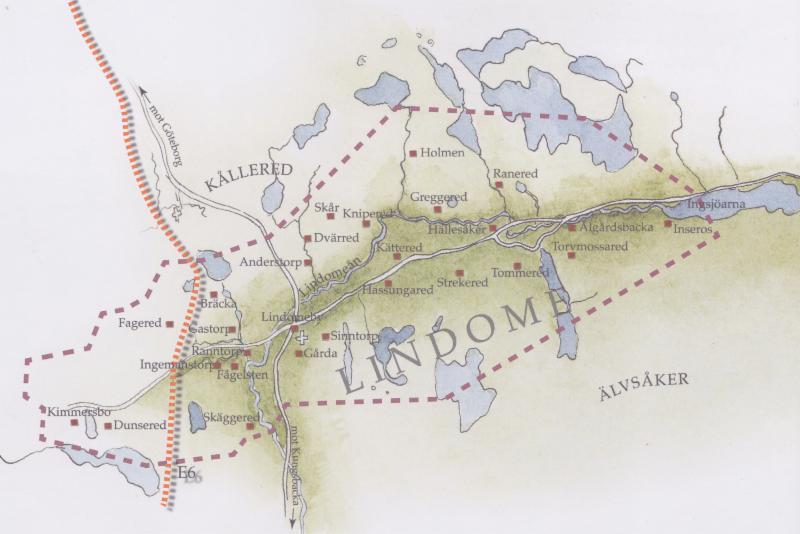 lindome map swedish antiques
