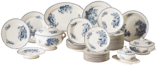 A French Dinner Service in Papillon Pattern Circa 1900