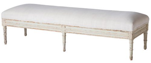 A Swedish Late Gustavian Bench Circa 1820