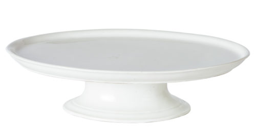 A Rare White Ironstone Oval Footed Server, France, Circa 1900
