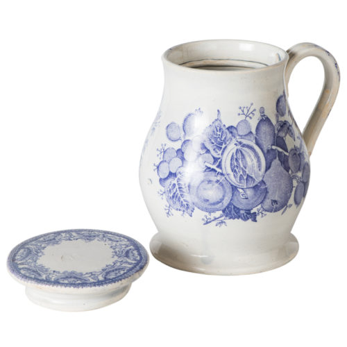An Early English Ale Jug With Lavender Transfer Decoration Circa 1800
