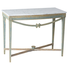 A Swedish Gustavian Period Console Table With Marble Top Circa 1790