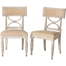 "A Pair of Swedish ""Bellman"" Side Chairs Circa 1800"