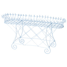 A French Wire Work Rectangular Plant Stand Circa 1900