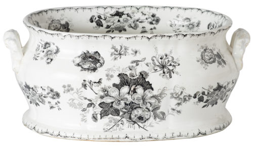 A 19th Century English Woodbine Pattern Transferware Foot-tub
