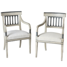 A Pair of Directoire Period Armchairs, France, Circa 1820