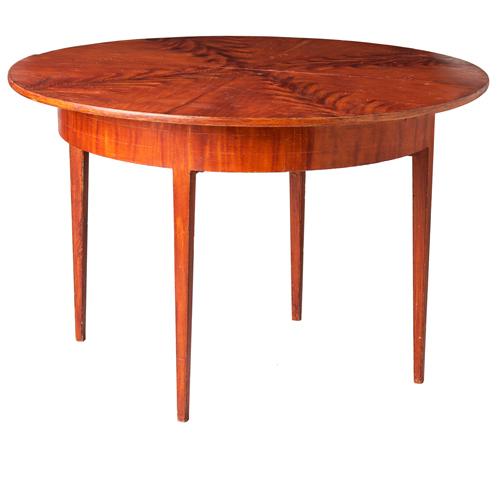 grain painted drop-leaf table