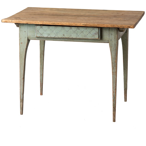 Scrubbed top work table