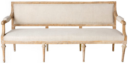 A Swedish Gustavian Period Settee in original Surface Circa 1790