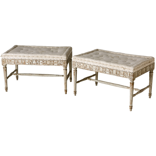 Pair of Gustavian Rectangular Benches