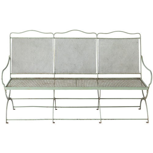 Green Woven Seat Bench