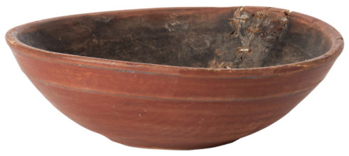 A Swedish Red Painted Wooden Bowl