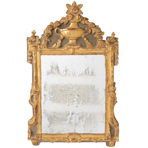 A French Louis XVI Giltwood Mirror, Late 18th Century