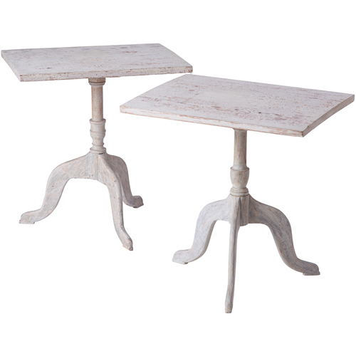 pair of candle tables