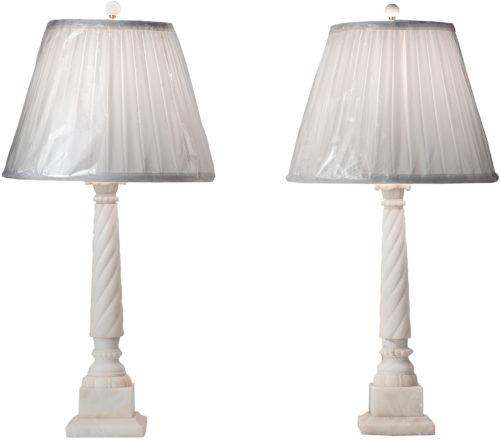 Two Italian Alabaster Lamps, Circa 1950