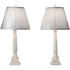 Two Italian Alabaster Lamps, Circa 1950