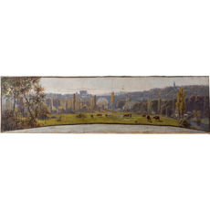 A French Panoramic Landscape Painting Signed Claudius Seignol (1858-1926)