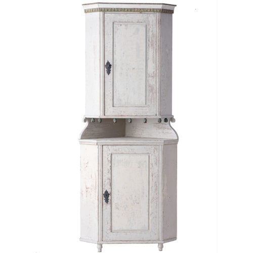 A Swedish Gustavian Period Corner Cupboard from Northern Sweden, Circa 1790