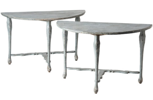A Pair of Early 20th Century Florentine Console Tables