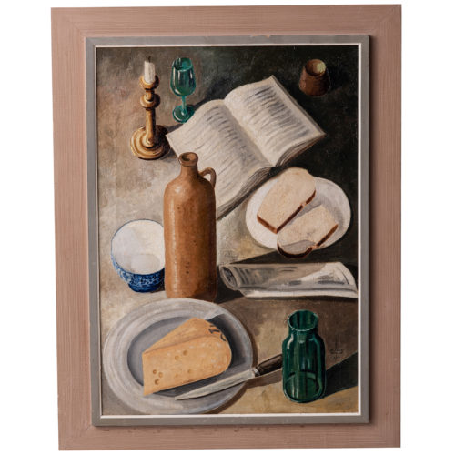A Dutch Mid Century Still Life, Oil on Canvas, Dated 1953
