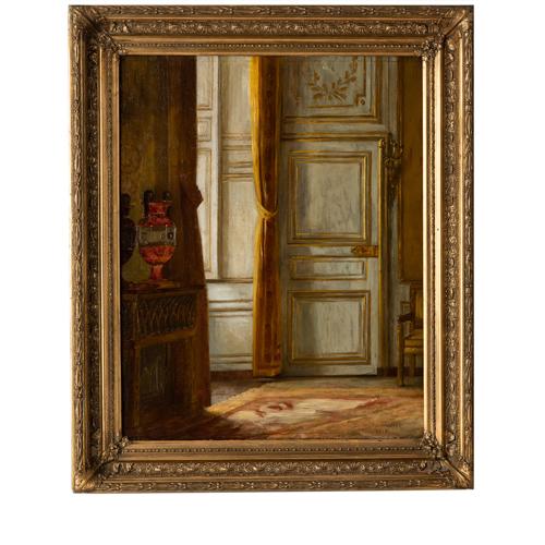 indoor scene oil on canvas